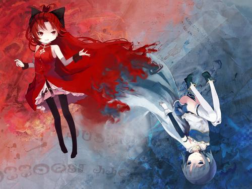 Decorate your Desktop with Sayaka x Kyouko!