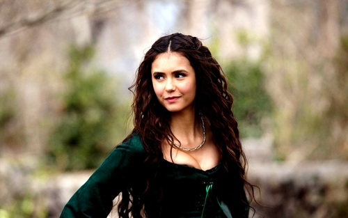 Katherine Pierce and Elena Gilbert wallpaper possibly containing a coquetel dress and a bustier, bustiê titled Elena&Katherine wallpaper