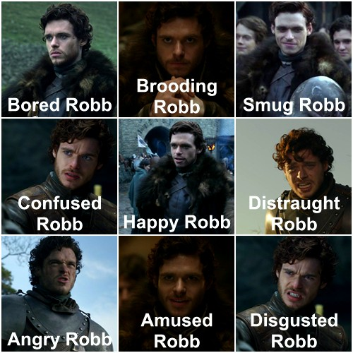 The many faces of Robb Stark