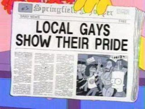 Gay Pride in The Simpsons