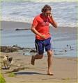 Gerard Butler Strolls the Beach with Lolita - gerard-butler photo