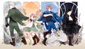 Germany / Italy /  Holy Roman Empire/ Chibitalia - hetalia-gerita photo