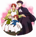 Germany and Italy / HRE and Chibitalia - hetalia-gerita photo