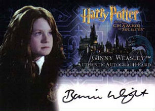 Ginny Weasley™ Authentic Autograph Card [Harry Potter and the Chamber of Secrets]