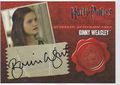 Ginny Weasley™ Authentic Autograph Card [Harry Potter and the Deathly Hallows Part 1]