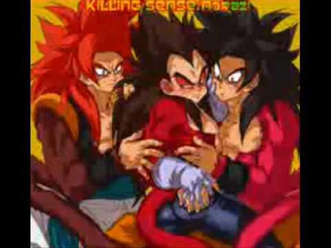 Goku, Vegeta, and Gogeta