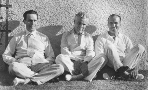 Harold Lloyd,Charlie Chaplin and Douglas Fairbanks