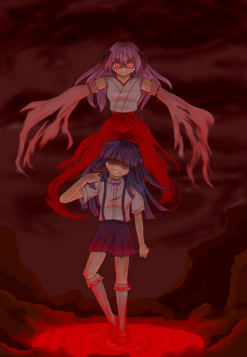 Higurashi no Naku Koro ni wallpaper called Her persona