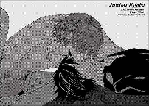 Hiroki kissing Nowaki