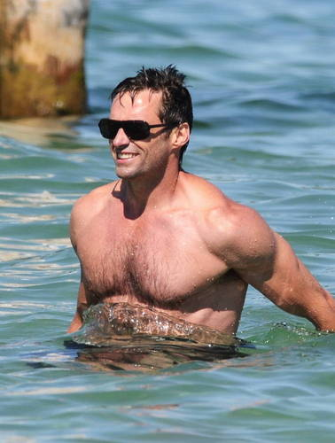 Hugh jackman and family in st. tropez - August 29