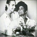 JANET JACKSON WITH JAMES DEBARGE RARE WEDDING foto 1984