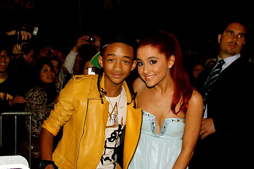 Jaden Smith Hintergrund probably with a well dressed person entitled Jaden & Ariana :)