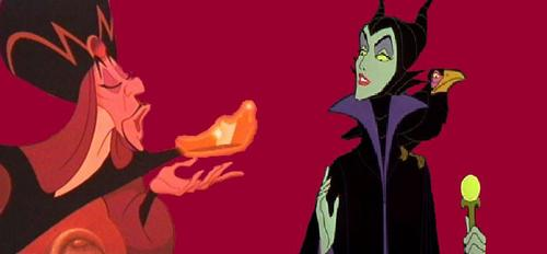 disney crossover fondo de pantalla possibly containing anime entitled Jafar & Maleficent