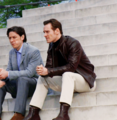 James & Michael BTS - james-mcavoy-and-michael-fassbender photo