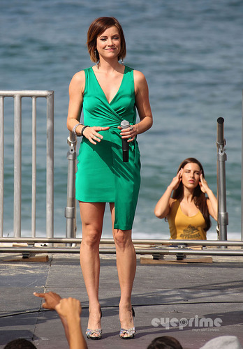Jessica Stroup on the Set of 90210 in Redondo Beach, Aug 30