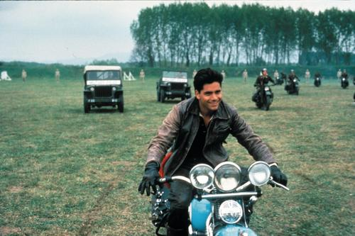 John Stamos वॉलपेपर probably containing a motorcyclist, a motorcycle cop, and a trail bike entitled John Stamos