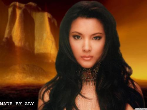 Kelly Hu fondo de pantalla probably with a portrait titled Kelly Hu