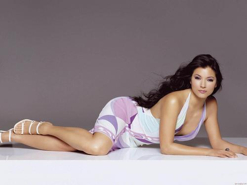 Kelly Hu fondo de pantalla containing skin titled Kelly Hu