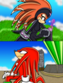 Knuxade- Thinking of you - knuckles-the-echidna fan art