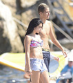 Lourdes Leon in a Bikini on the beach, pwani in Nice, France, Aug 28