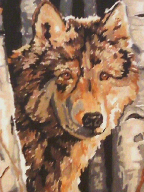 My wolf painting