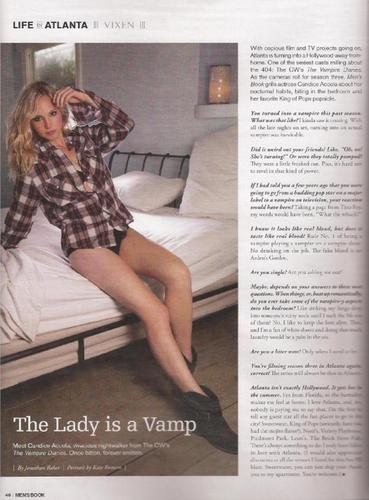 New scan of Candice! [photo sejak Kate Romero]
