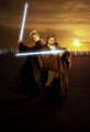 Obi wan and Anakin, attack of the clones - obi-wan-kenobi-and-anakin-skywalker photo