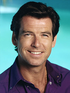 PIERCE BROSNAN HAPPY FACE