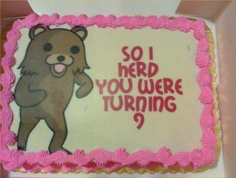 Pedo Bear Birthday Cake