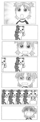 Pedo くま, クマ and Yotsuba