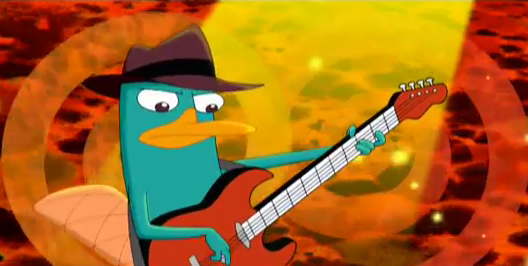 Phineas And Ferb Guitar: Perry Playing The Bass Guitar