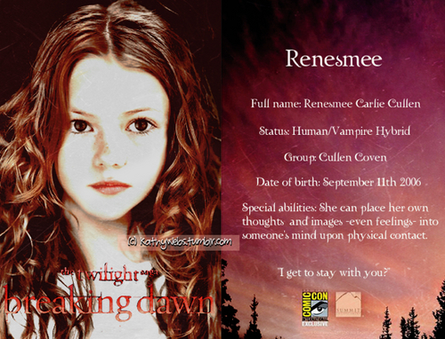 renesmee carlie cullen wallpaper possibly containing a portrait called Renesmee Fanart