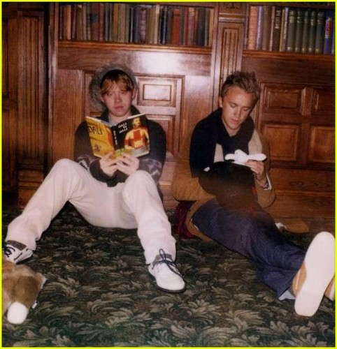 Rupert Grint & Tom Felton Are A Band of Outsiders