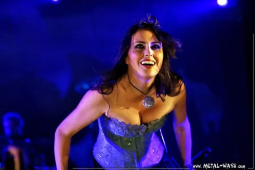 Sharon Den Adel wallpaper probably with a dinner dress and a portrait titled Sharon