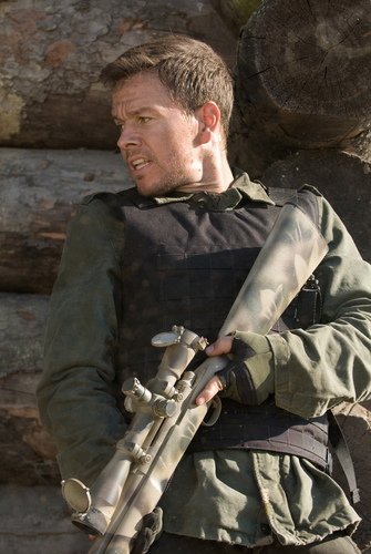 Mark Wahlberg wallpaper containing a rifleman, a green beret, fadigas, and fadiga titled Shooter Movie Stills