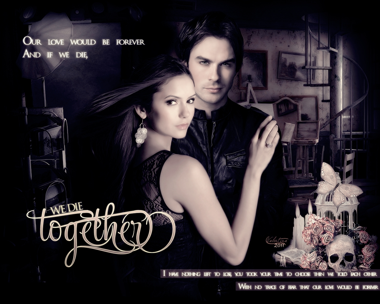 The Vampire Diaries by DA: CROvalentina - the-vampire-diaries wallpaper