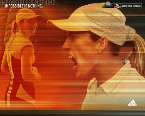 Justine Henin-Hardenne in Impossible Is Nothing