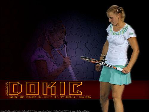Jelena Dokić in Purple Grid
