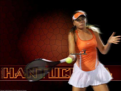 Daniela Hantuchová in オレンジ Grid