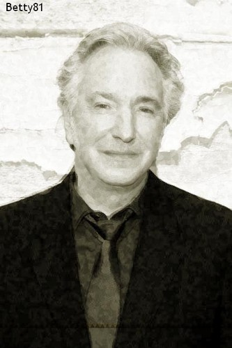 Alan Rickman karatasi la kupamba ukuta probably containing a business suit, a well dressed person, and a portrait titled alan rickman