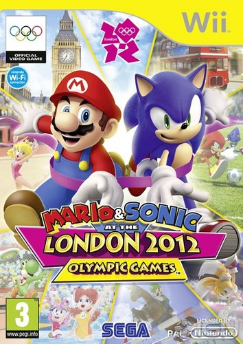 mario & sonic at the london 2012 olympic games (game cover )