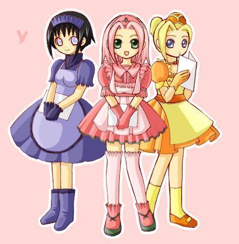 sakura,ino and hinata(CHIBI)