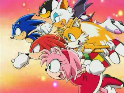 Sonic the Hedgehog wallpaper with anime called sonic x opening picture