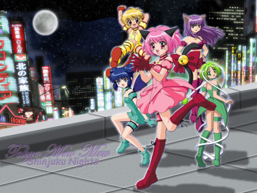 chrie♥ 壁纸 possibly with a 街, 街道 called tokyo mew mew