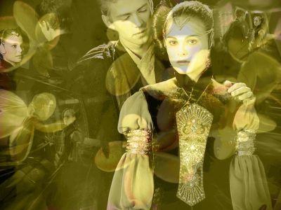 Anakin and Padme Обои