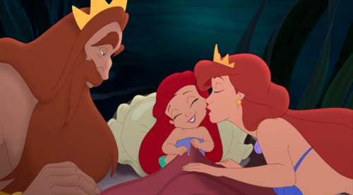 Ariel and her parents
