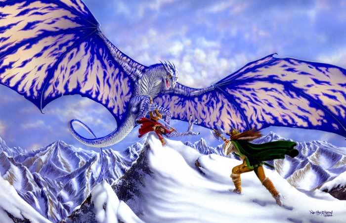 giant giant fire dragon vs ice dragon -#main