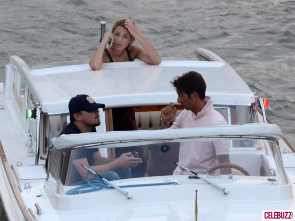 Leonardo Dicaprio And Blake Lively Imagens Blake And Leo On A Boat