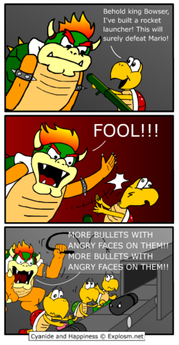 Bowser does not suffer fools.