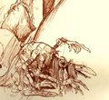 Brian Froud Sketch - dark-crystal photo